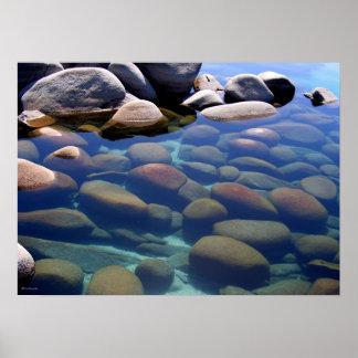 Del lago Tahoe todavía del invierno agua 2 Póster