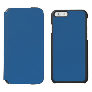 ~ del LAPISLÁZULI (color azul rico sólido) Funda Billetera Para iPhone 6 Watson