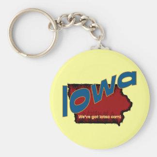 ~ del lema de Iowa IA LOS E.E.U.U. tenemos el maíz Llavero Redondo Tipo Pin