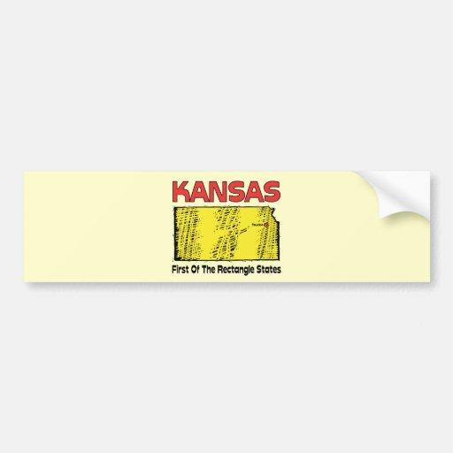 ~ del lema de Kansas KS primero de los estados del Pegatina Para Auto