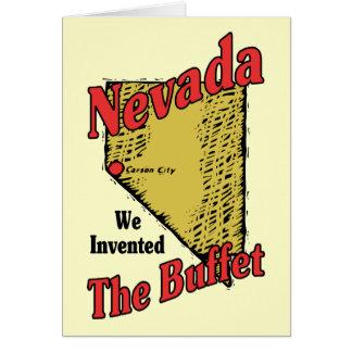 ~ del lema de Nevada nanovoltio los E.E.U.U. Tarjeta De Felicitación