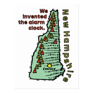 del lema de New Hampshire NH inventamos la alarm Postal