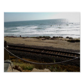 Del Mar Beach by RZB Poster