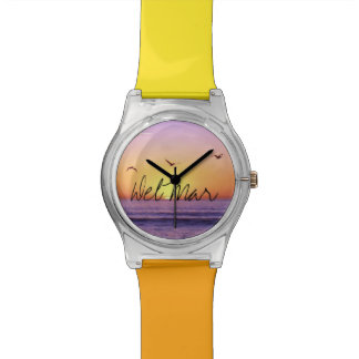 Del Mar California Beach Sunset Wrist Watches