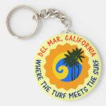Del Mar, California en donde el césped resuelve la Llaveros