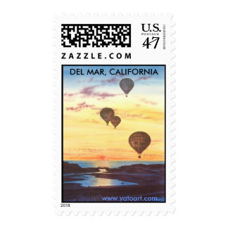 DEL MAR, CALIFORNIA POSTAGE STAMP