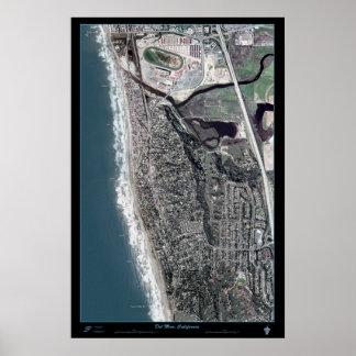 Del Mar, California satellite poster print map