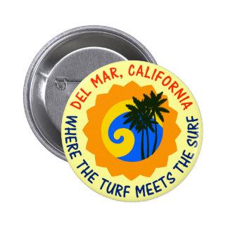 Del Mar, California Where The Turf Meets The Surf Button