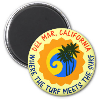 Del Mar, California Where The Turf Meets The Surf Magnet