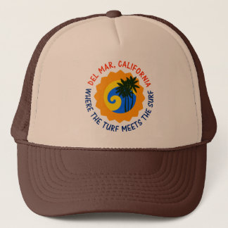 Del Mar, California Where The Turf Meets The Surf Trucker Hat