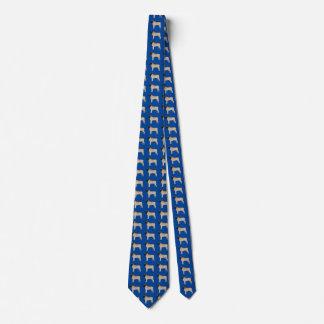 Del mastín del cuello del lazo azul profundamente corbatas personalizadas