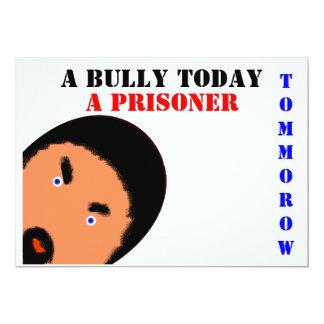 Del matón preso hoy mañana invitación 12,7 x 17,8 cm