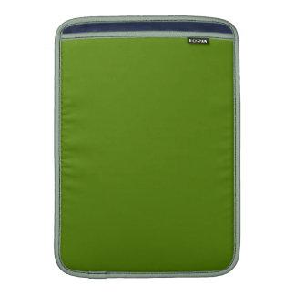 ~ del MEDIO del VERDE VERDE OLIVA (color sólido) Funda Para Macbook Air