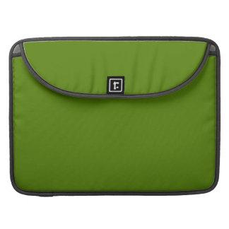 ~ del MEDIO del VERDE VERDE OLIVA (color sólido) Fundas Para Macbook Pro