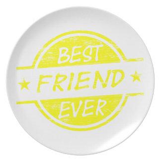 Del mejor amigo amarillo nunca plato de cena
