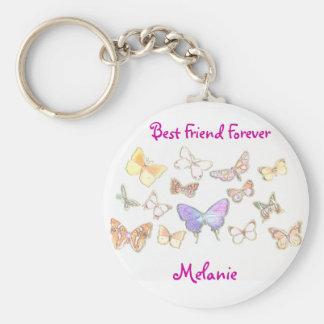 Del mejor amigo llavero de la mariposa para siempr