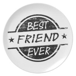 Del mejor amigo negro nunca platos de comidas
