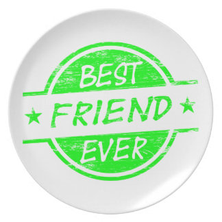 Del mejor amigo verde nunca plato