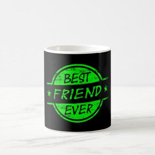 Del mejor amigo verde nunca tazas