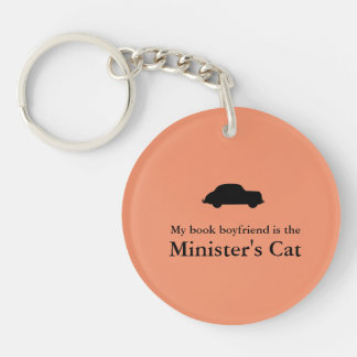 Del ministro del gato del Llavero- de la tropa Llavero Redondo Acrílico A Doble Cara