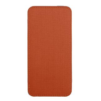 ~ del MOHO (color pardusco rojizo sólido) Funda Acolchada Para iPhone
