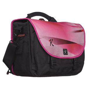 Del monograma bolso del viaje del diseño del rosa bolsas para portátil