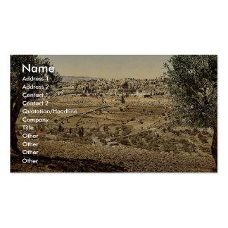 Del monte de los Olivos, visión general, Jerusalén Tarjeta De Visita