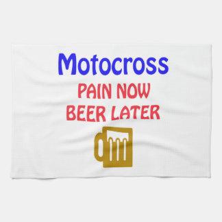 Del motocrós del dolor cerveza ahora más adelante toallas