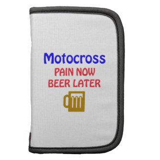 Del motocrós del dolor cerveza ahora más adelante organizador