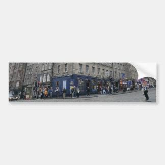 Del mundo de Edimburgo la taberna del extremo Pegatina Para Auto