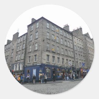 Del mundo de Edimburgo la taberna del extremo Pegatina Redonda