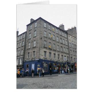 Del mundo de Edimburgo la taberna del extremo Tarjeta De Felicitación