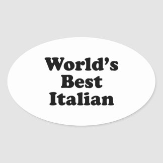 Del mundo el italiano mejor calcomania de óval