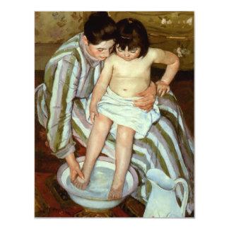 Del niño de Mary Cassatt el baño (circa 1892) Invitación 10,8 X 13,9 Cm