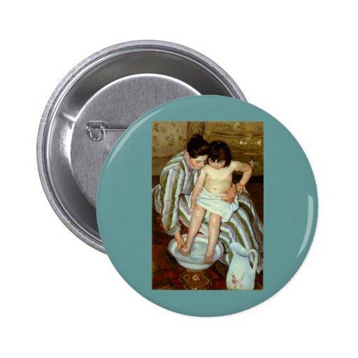 Del niño de Mary Cassatt el baño (circa 1892) Pin