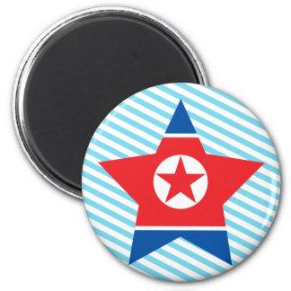 Del norte+Estrella de Corea Iman De Frigorífico