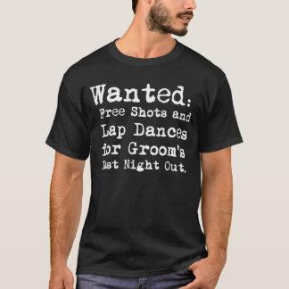 Del novio camiseta de la despedida de soltero