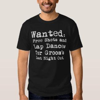 Del novio camiseta de la despedida de soltero playeras