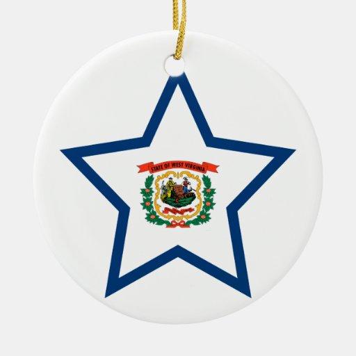 Del oeste+Estrella de Virginia Ornamento Para Arbol De Navidad