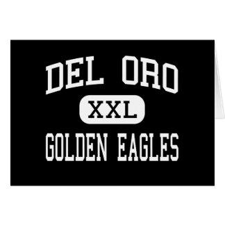 Del Oro - Eagles de oro - alto - Loomis California Tarjeta De Felicitación