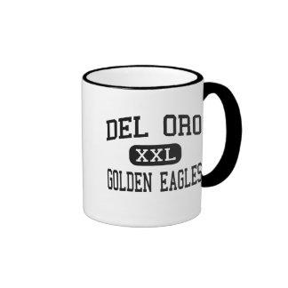 Del Oro - Eagles de oro - alto - Loomis California Taza A Dos Colores