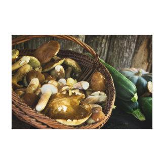 Del otoño todavía de la comida impresión de la impresiones en lona estiradas