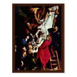Del panel central del tríptico cruzado: Cruz Postales