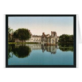 Del parque, palacio de Fontainebleau, vintag de Fr Tarjeta