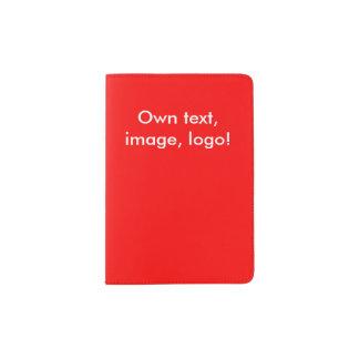 Del pasaporte del tenedor rojo uni porta pasaporte