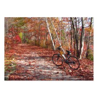 del paseo de la bici del otoño rechoncho plantillas de tarjeta de negocio
