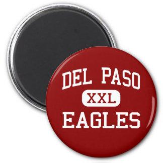 Del Paso - Eagles - alto - nuez California Imán Redondo 5 Cm