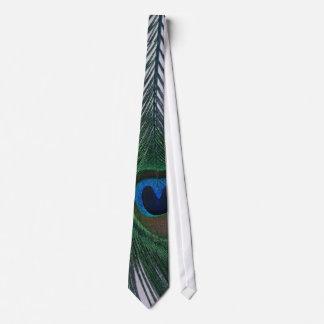 Del pavo real todavía de la pluma vida blanca relu corbata personalizada