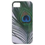 Del pavo real todavía de la pluma vida blanca relu iPhone 5 Case-Mate protector