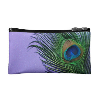Del pavo real todavía de la pluma vida púrpura en